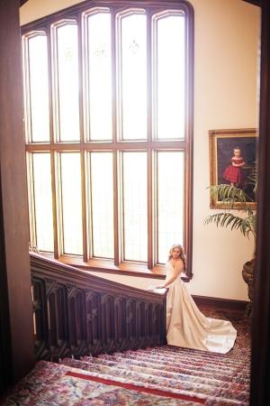 Staircase Bridal Portrait Meg Perotti