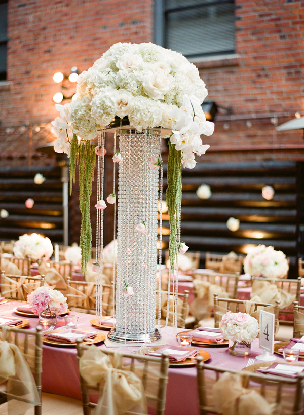 Tall Jeweled Vases Reception Centerpieces Elizabeth Anne