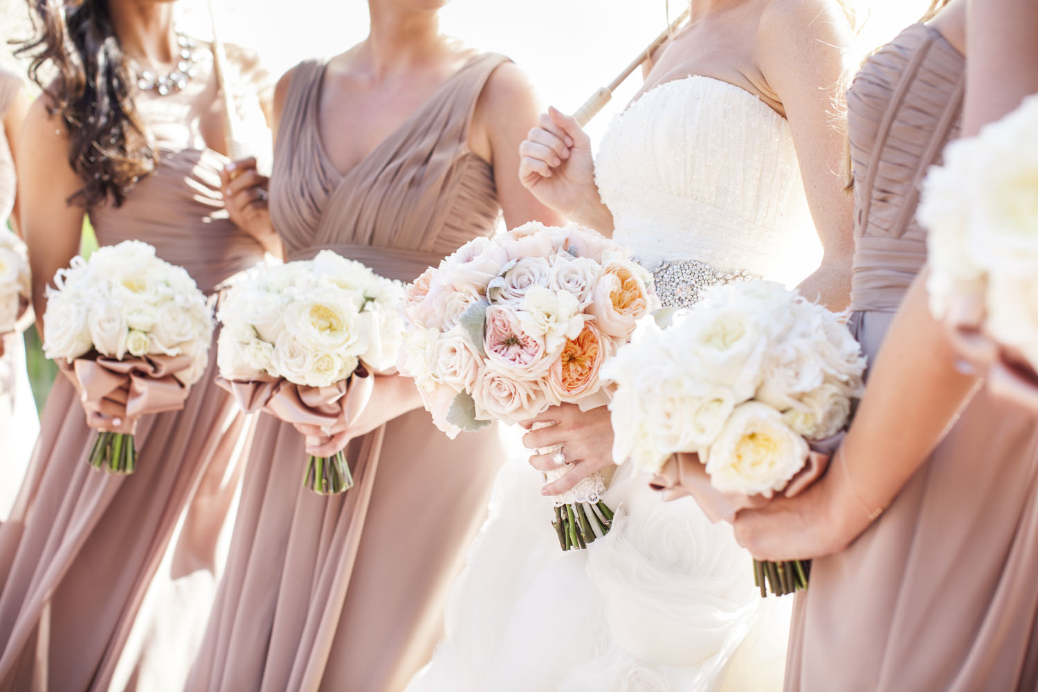 Taupe bridesmaids dresses elizabeth anne designs the wedding blog ombrellifo Choice Image
