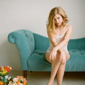 Turquoise Velvet Sofa