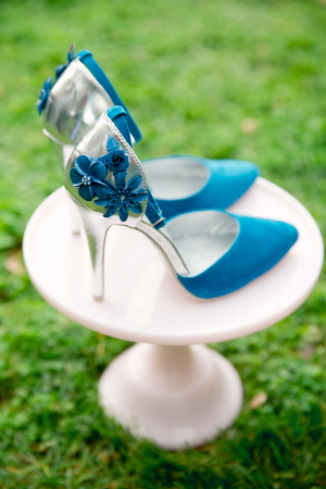 Turquoise and Silver Heels