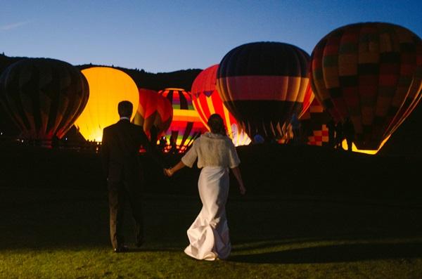 Hot Air Balloons at Wedding