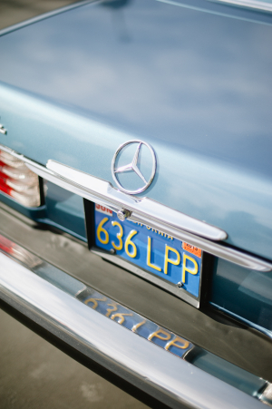 Vintage Blue Mercedes Convertible