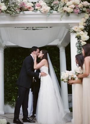 Wedding Gazebo With Lush Floral Garland
