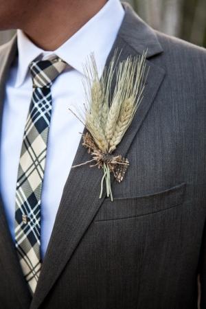 Wheat Boutonniere