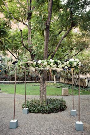 White Floral Arbor