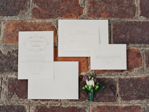 White and Gray Invitations