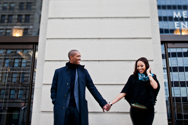 Winter Clothing for Engagement Portraits