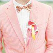 Colorful Fabric Boutonniere