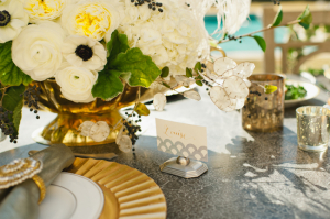 1920s Gold and Silver Tablescape