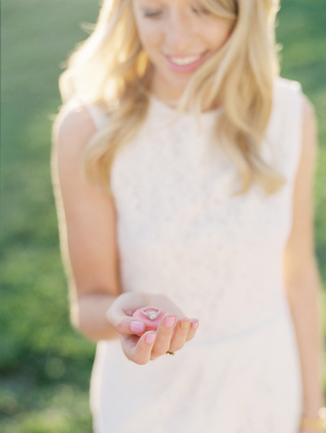 Baby Pink Manicure Engagement Photo Ideas