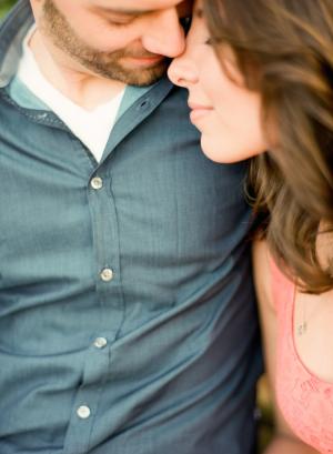 Blue Dress Shirt in Engagement Photos