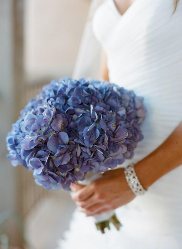 Blue Hydrangea Bridal Bouquet Elizabeth Anne Designs