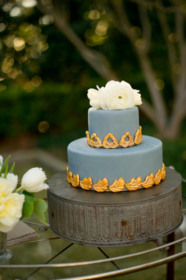 Blue And Gold Wedding Cake Elizabeth Anne Designs The
