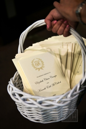 Ceremony Programs With Gold Crest and Monogram