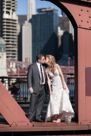 Chicago Bridge Wedding Portrait