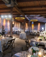 Chicago Reception Venue With Beam Ceiling and Brick Walls