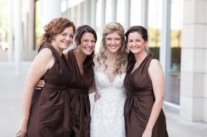 Chocolate Silk Bridesmaids Dresses
