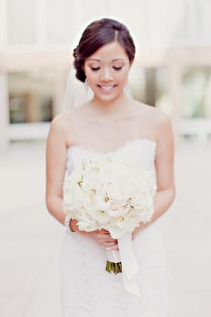 Classic All White Bridal Bouquet