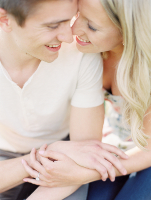 Close Up Engagement Portrait From Clary Photo