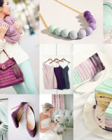 Cool Mint Purple Wedding Colors