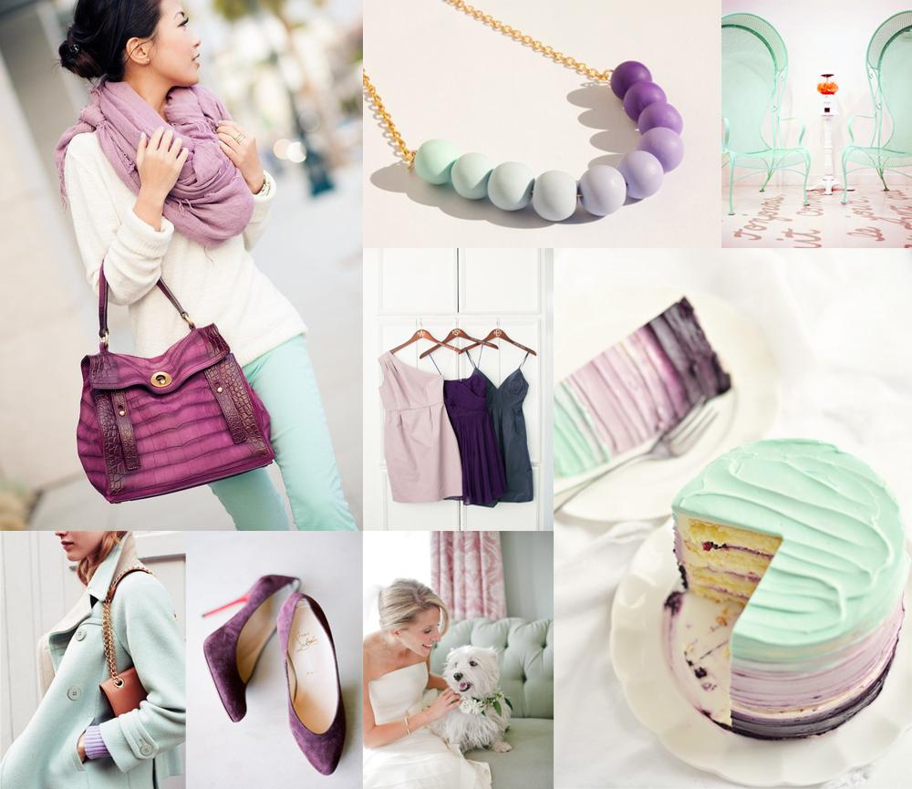 Purple And Mint Green Wedding Colors Elizabeth Anne Designs