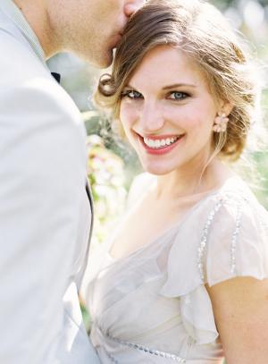 Coral Lipstick Bridal Makeup