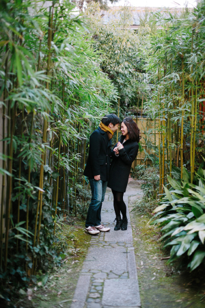 Couple in Bamboo Garden