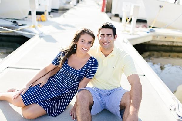 Couple in Nautical Dress on Dock