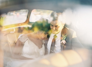 Couple in Vintage Limo