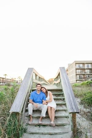 Couple on Beach Steps