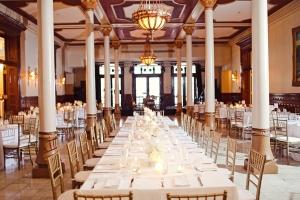Cream and Gold Hotel Ballroom Reception