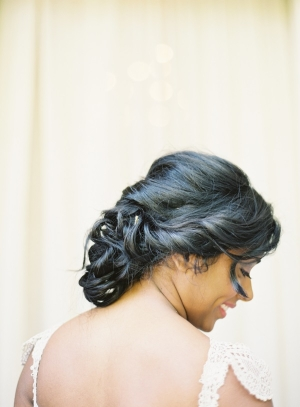 Curled Bridal Updo Ideas