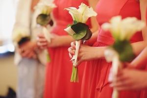 Dark Coral Bridesmaids Dresses