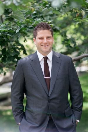 Dark Gray Suit With Maroon Tie