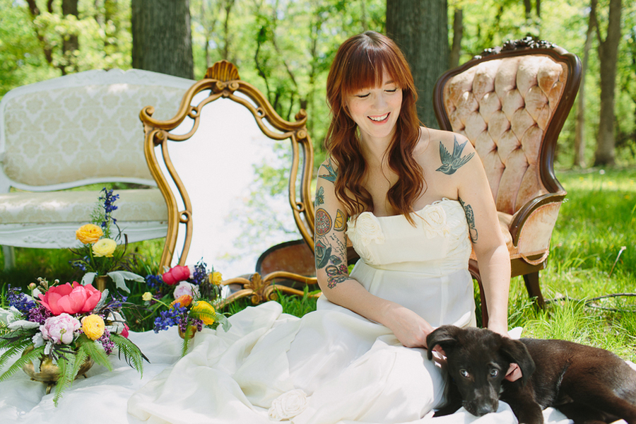 Vintage + Colorful Outdoor Wedding Inspiration