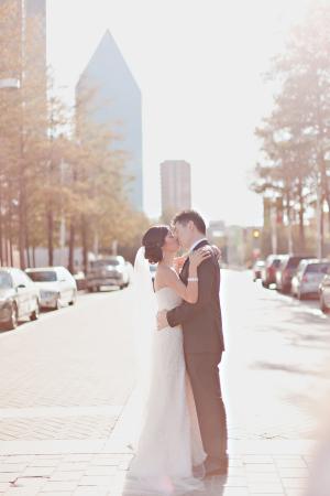 Downtown Dallas Couple Portrait
