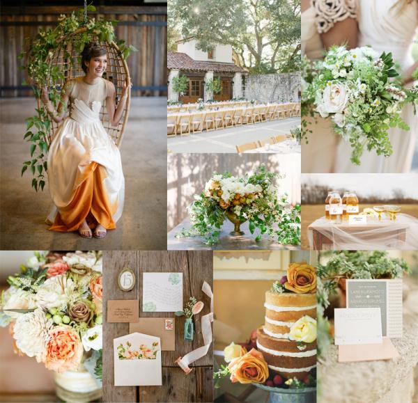 Elegant Country Wedding Ideas: Elegant + Rustic Amber Green Wedding Colors