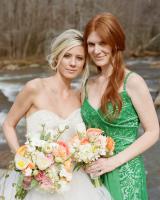 Emerald Peach Wedding Inspiration