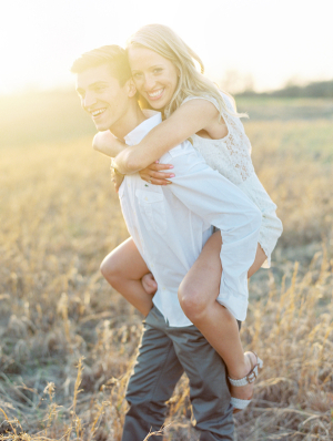 Engagement Portrait in Field From Clary Photo