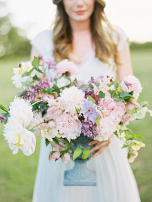 Pink, Purple And White Floral Arrangement