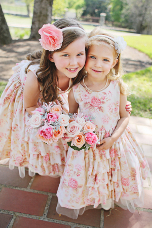 Floral and Ruffled Flower Girl Dresses