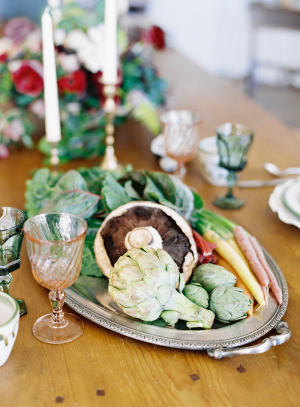 Garden Produce on Silver Platter