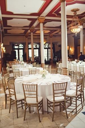 Gold White Ballroom Wedding