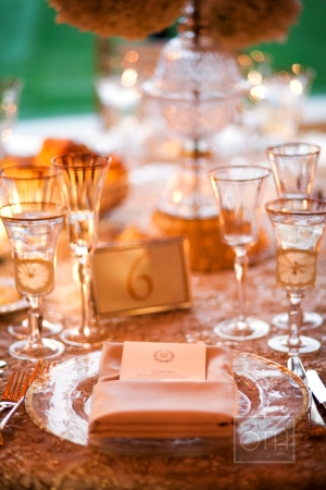 Gold and Pale Pink Table Decor