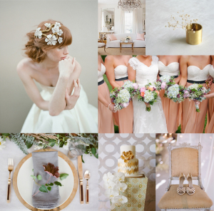 Gray Gold Blush Wedding Colors