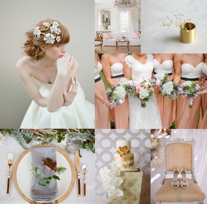 Gray Gold Blush Wedding Colors