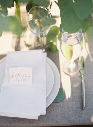Gray Wedding Place Setting