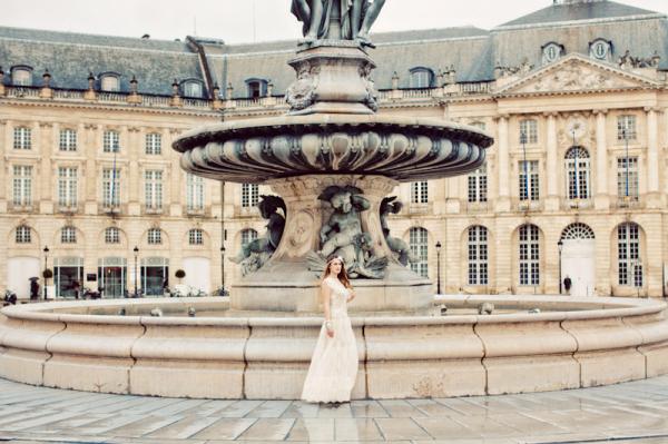 Historic Fountain in Bordeaux France