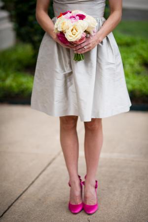 Hot Pink Heels Bridesmaids Shoes